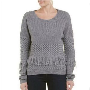 BB Dakota NWT Mix it Up Fringe Sweater Pullover